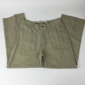 Tommy Bahama Pants Size 34 Silk Flat Front!